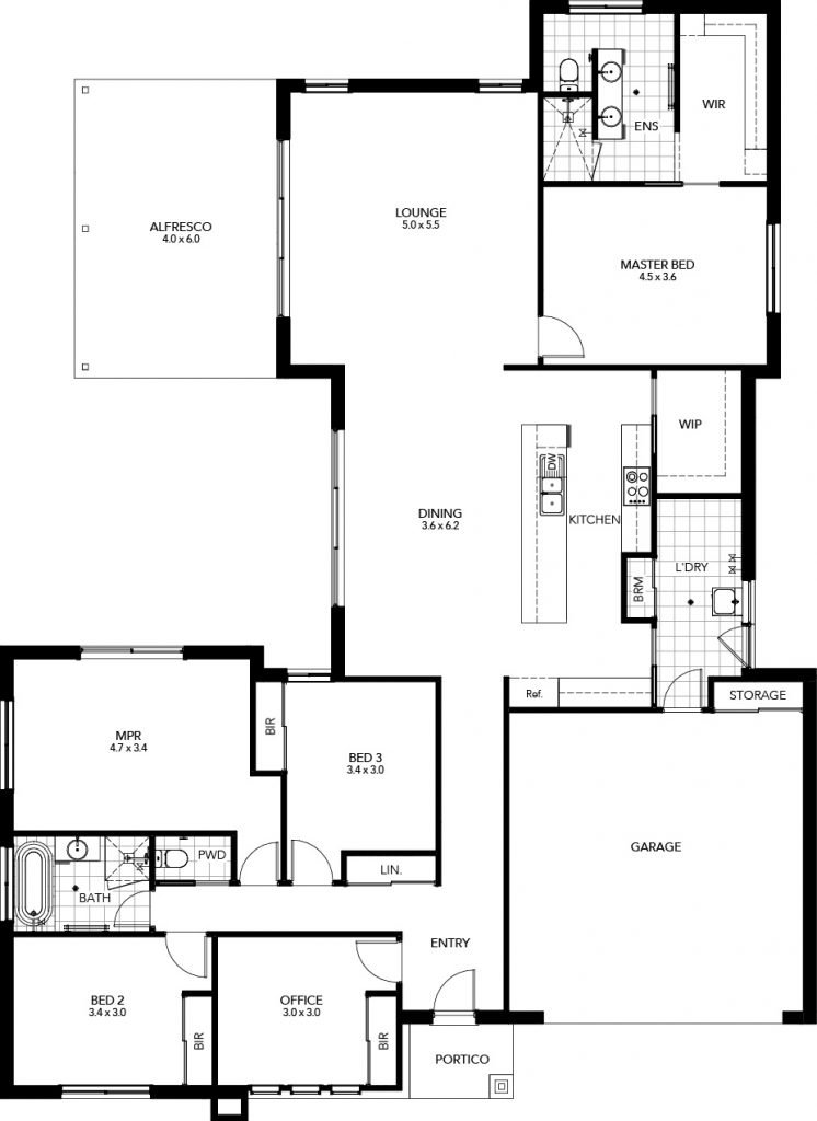 The Lodge V1 - Floor Plan