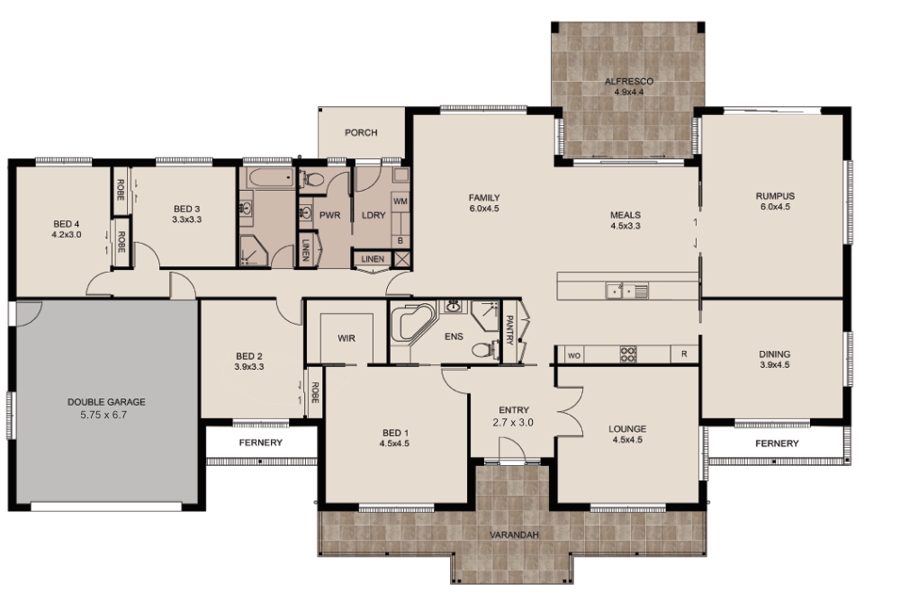 The Manor Floor Plan