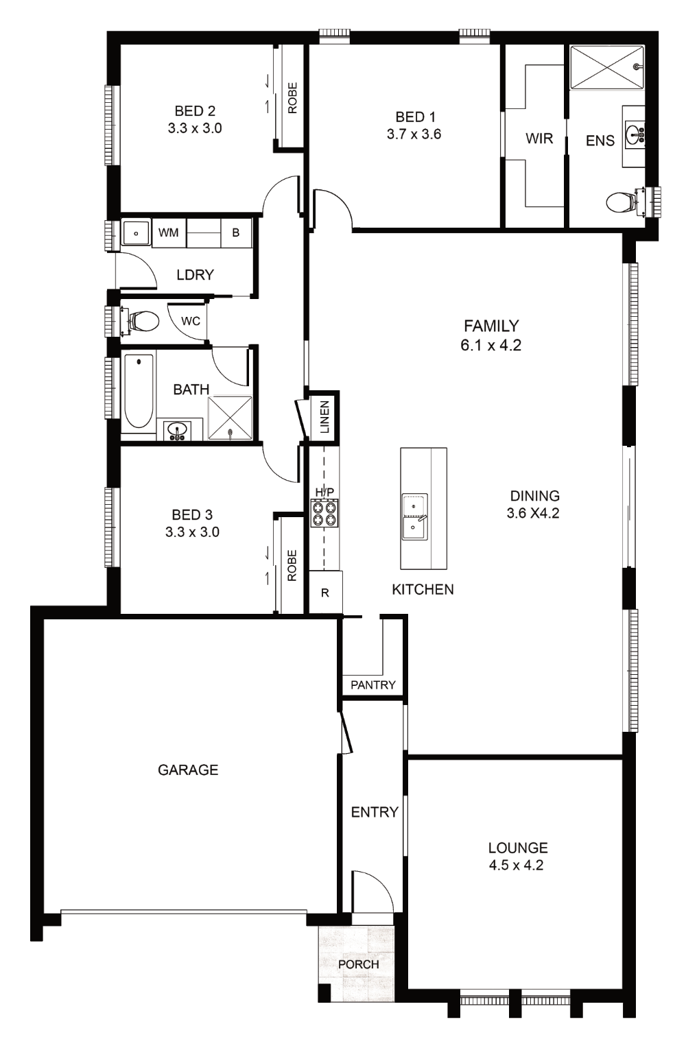 The Sienna Floor Plan