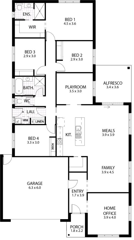 The Valencia Floor Plan