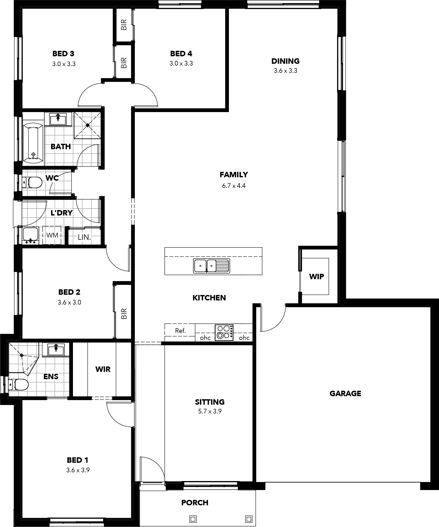 Franklin Floor Plan Hamptons