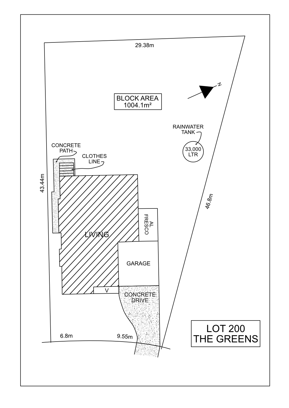 Lot 200 The Greens - Franklin Site Plan