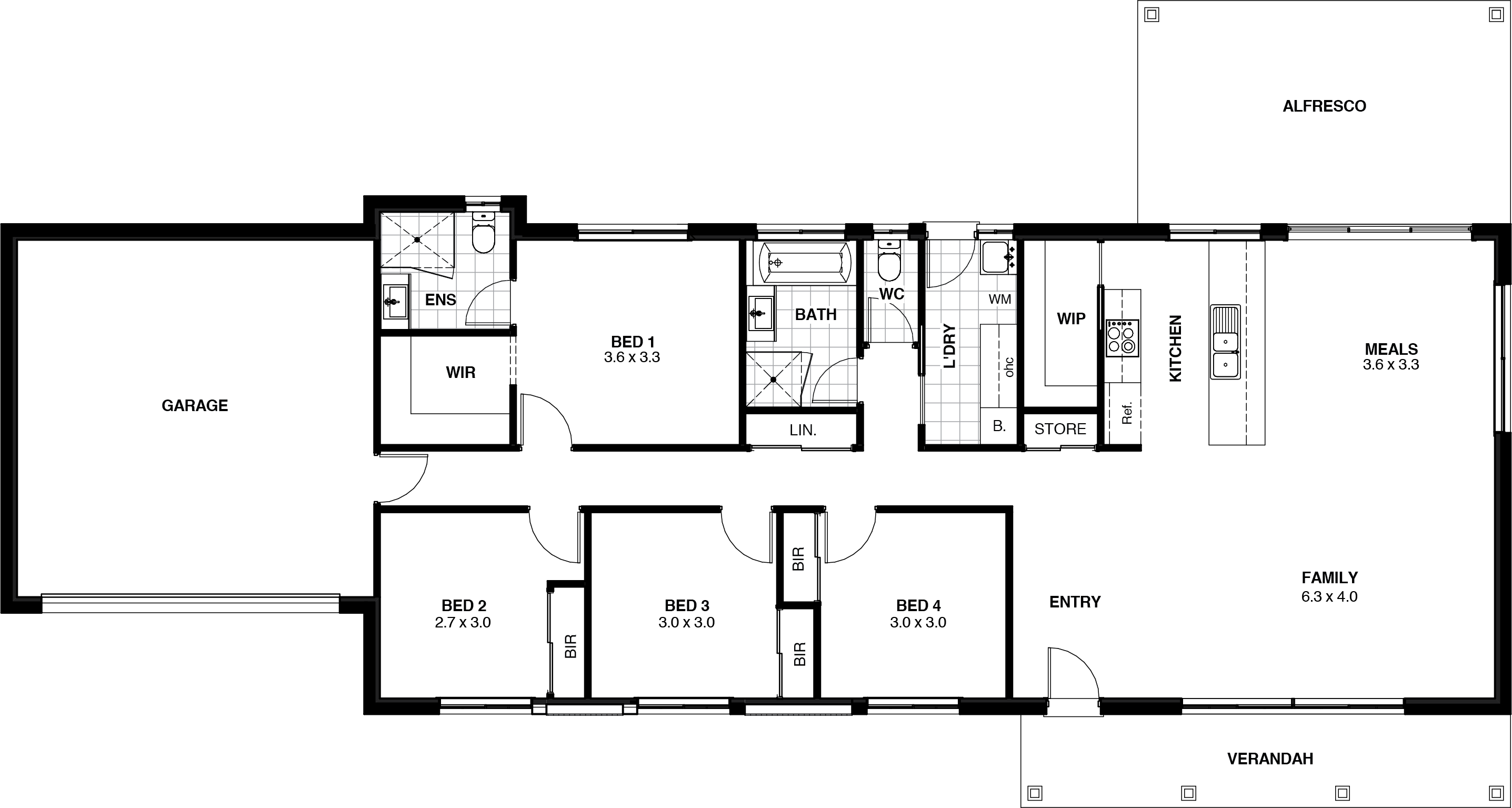 Sunset Floor Plan
