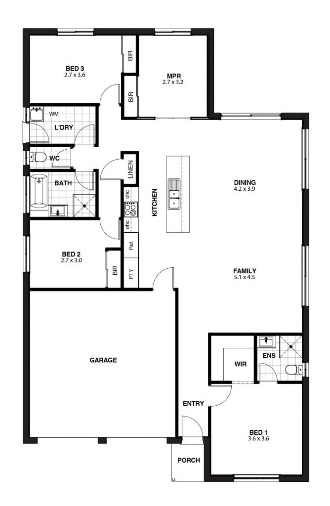 The Milano MPR Floor Plan