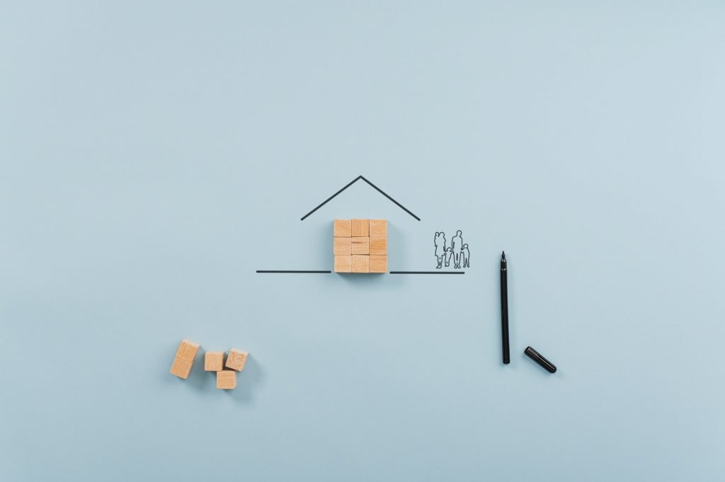 Conceptual image of home ownership and insurance